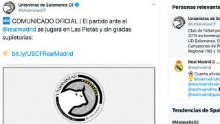 El Unionistas-Real Madrid se jugará en Las Pistas y sin gradas supletorias.