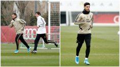 Hazard y Asensio, trabajando en Valdebebas. (RealMadrid)