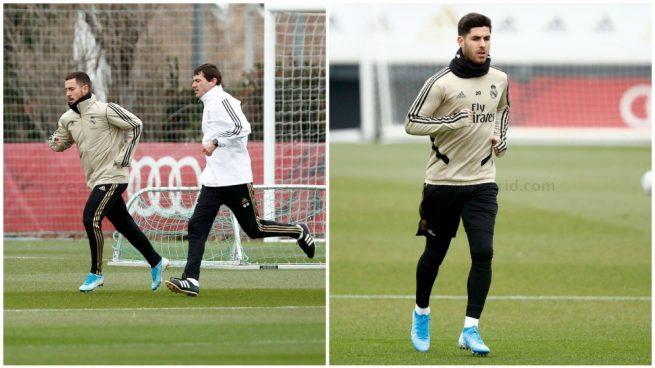 Eden Hazard y Marco Asensio