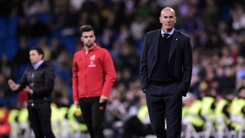 Zidane, durante el Real Madrid – Leganés de 2018. (AFP)
