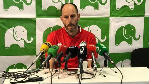 Jabi Luaces, en rueda de prensa.