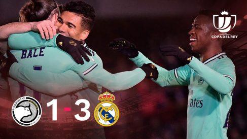 El Real Madrid se impuso 1-3 a Unionistas.