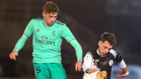 Valverde, durante un partido ante el Unionistas. (EFE)