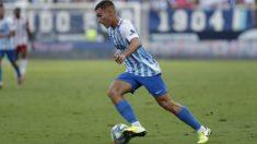 Hugo Vallejo, durante un partido. (Málaga C.F,)