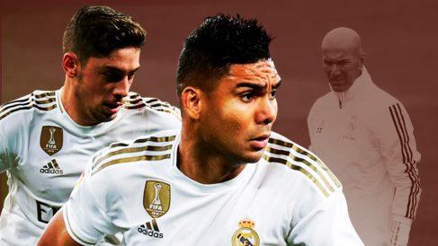 Zidane exprime a Casemiro y Valverde.