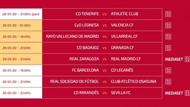 El Zaragoza-Real Madrid se jugará el miércoles 29 a las 21:00 horas