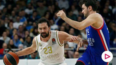 madridbasLlull, en el partido contra Anadolu Efes. (EFE)