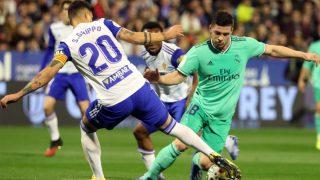 Jovic, durante el Zaragoza – Real Madrid (EFE).