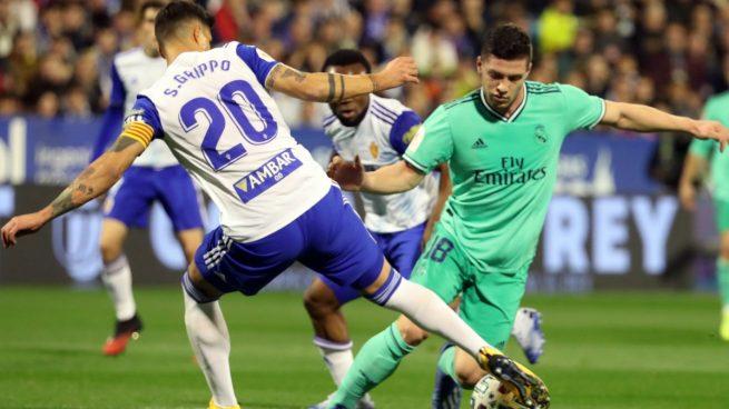 Jovic, durante el Zaragoza - Real Madrid (EFE).
