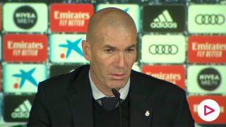 Rueda de prensa de Zidane posterior al Real Madrid-Atlético de Madrid.