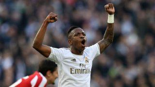 Vinicius, durante el partido ante el Atlético de Madrid (Getty).