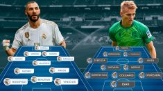 Real Madrid y Real Sociedad se enfrentan en el Bernabéu.