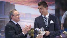 Cristiano Ronaldo y Florentino Pérez (Getty).