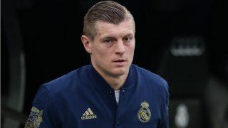 Toni Kroos, antes de un partido con el Real Madrid. (Getty)