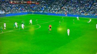 La jugada polémica en la que se señaló fuera de juego a Vinicius y se le anuló el gol.