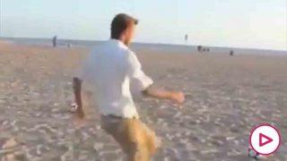 David Beckham, en la playa.