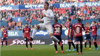 Casemiro celebra uno de los goles del Real Madrid ante Osasuna. (Getty)