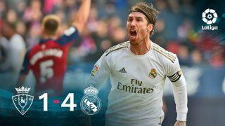 El Real Madrid se impuso 1-4 a Osasuna.
