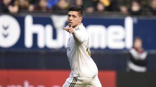 Jovic celebra su gol ante Osasuna. (Getty)