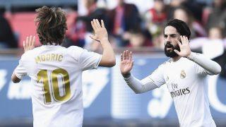 Isco celebra un gol contra Osasuna. (AFP)