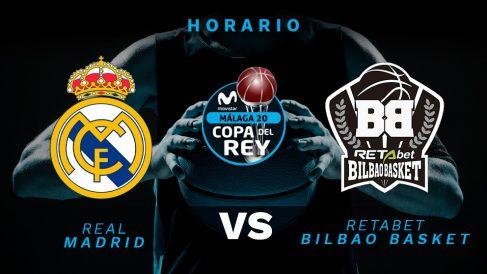 Copa del Rey de baloncesto 2020: Real Madrid – Bilbao Basket   Horario del partido de Copa del Rey de baloncesto.