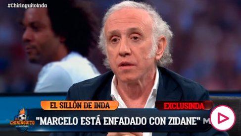 Eduardo Inda dejó claro la postura de Marcelo sobre el trato de Zidane.