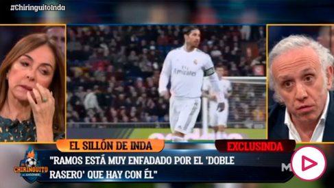 A Sergio Ramos le indigna la doble vara de medir que hay con él.