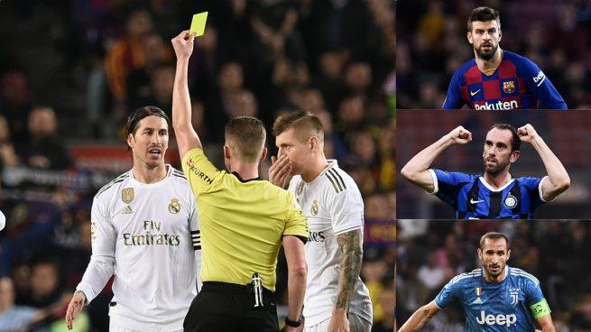 Sergio Ramos tiene razón: el doble rasero con Piqué, Godín, Chiellini…