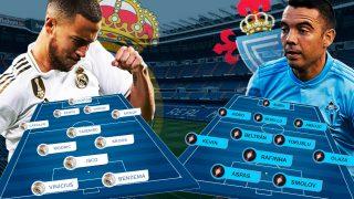 Real Madrid y Celta se enfrentan en el Bernabéu.