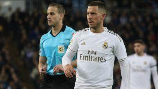 Hazard, durante el partido contra el Celta. (Enrique Falcón)
