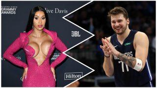 Cardi B y Doncic, ¿más que amigos en el All-Star de la NBA?