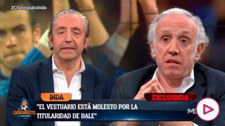 Inda desveló el enfado por la titularidad de Bale.