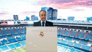 Florentino Pérez durante una presentación. (Realmadrid.com)