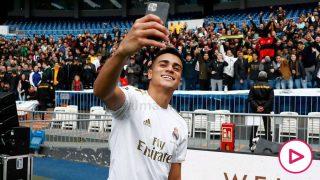 Reinier, en su presentación con el Real Madrid. (realmadrid.com)