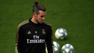 Bale, en un entrenamiento con el Real Madrid. AFP