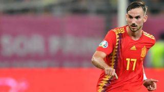 Fabián Ruiz, en un partido de la Selección. (AFP)