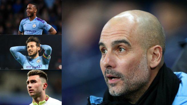 Sterling, Silva y Laporte, las dudas de Guardiola antes de medirse al Real Madrid (Getty).