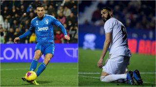 Cristiano Ronaldo y Karim Benzema.