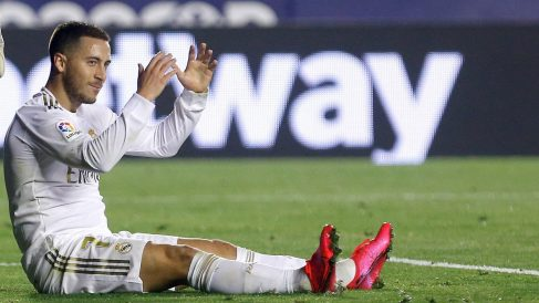 Hazard, en el partido ante el Levante.