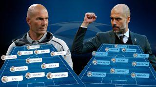 Real Madrid y Manchester City se enfrentan en el Bernabéu.
