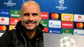 Guardiola, en rueda de prensa. (AFP)