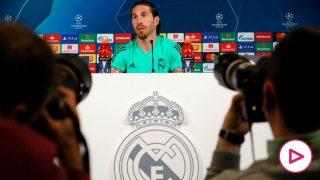 Sergio Ramos, en rueda de prensa antes del Real Madrid-City.