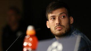 Silva, durante la rueda de prensa en el Bernabéu. (Getty)