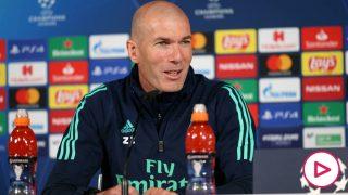 Zidane, en la rueda de prensa previa al Real Madrid-City.