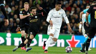 Casemiro durante el partido de Champions ante el Manchester City. (EFE)