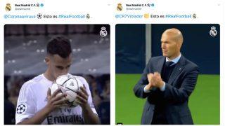 Trolean la cuenta de Twitter del Real Madrid.