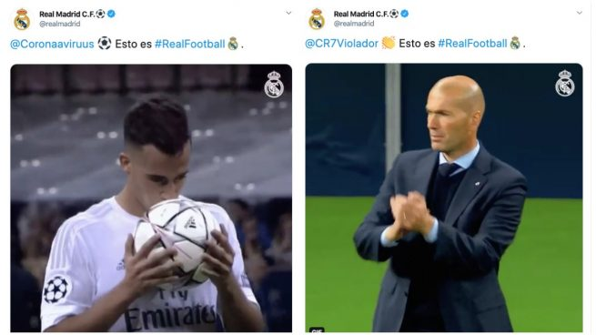 Real Madrid twitter troleo