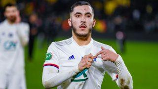Cherki, celebrando un gol con el Lyon. (www.ol.fr)