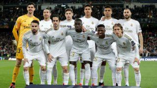 El once inicial elegido por Zidane. (Getty)