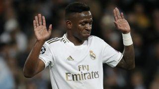 Vinicius, en un partido del Real Madrid. (Getty)
